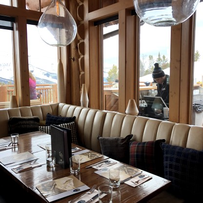 Interior of Everett's with killer views!