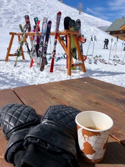 Coffee break with a hell of a view!