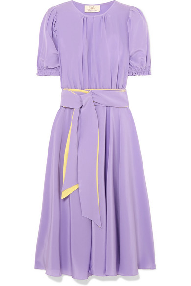 ARoss Girl x Soler Belted Silk Dress