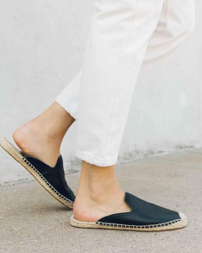 Tumbled Leather Mule