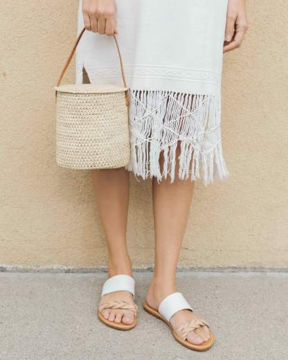 Merida Woven Bucket Bag