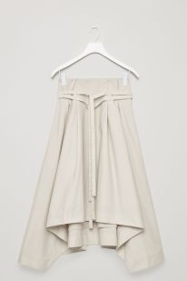 Handkerchief- Hem Poplin Skirt